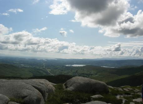 View south over Barnesmore