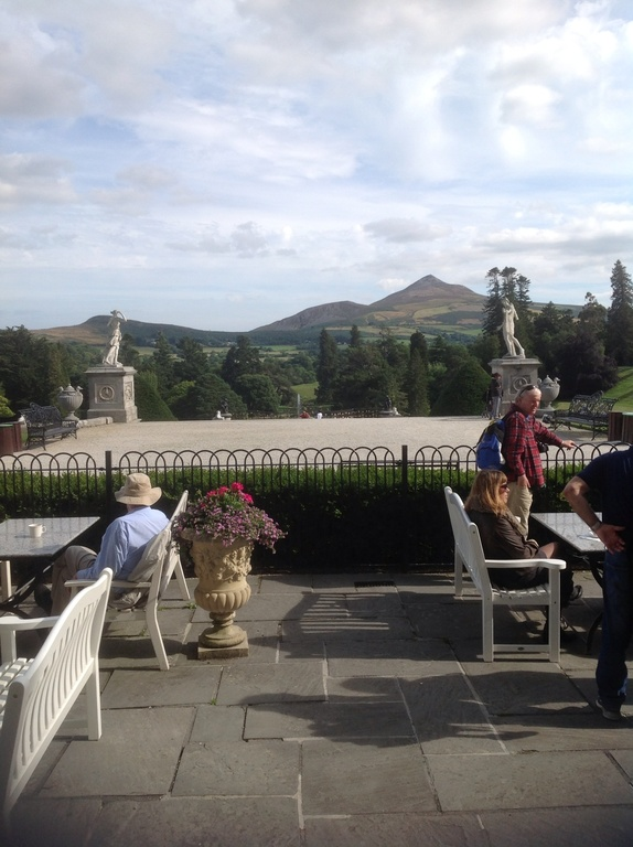 View  from  cafe at Powerscourt House
