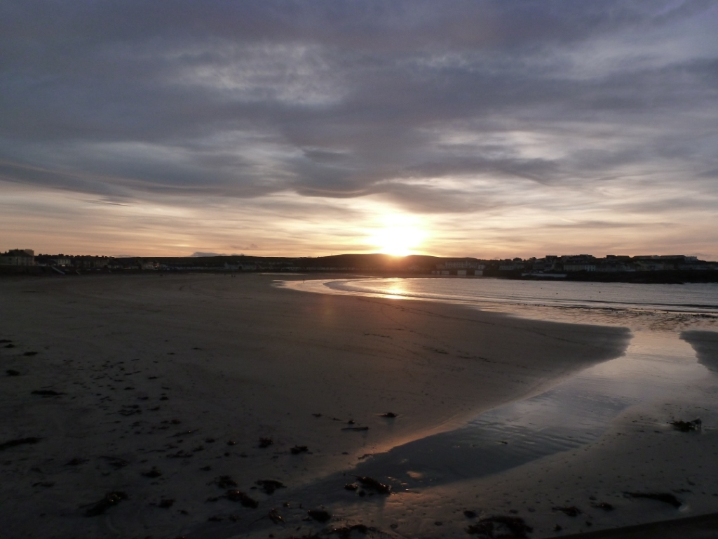 Sunset at Beach in Winter 3