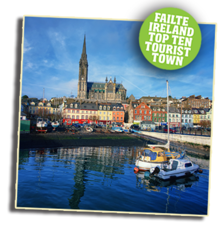 Cobh town-20 mins- from which you can visit titanic heritage centre/ famine museum.