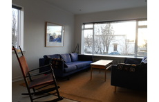 Living room facing south.