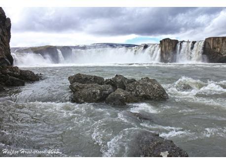 Goðafoss waterfall 30 min drive.