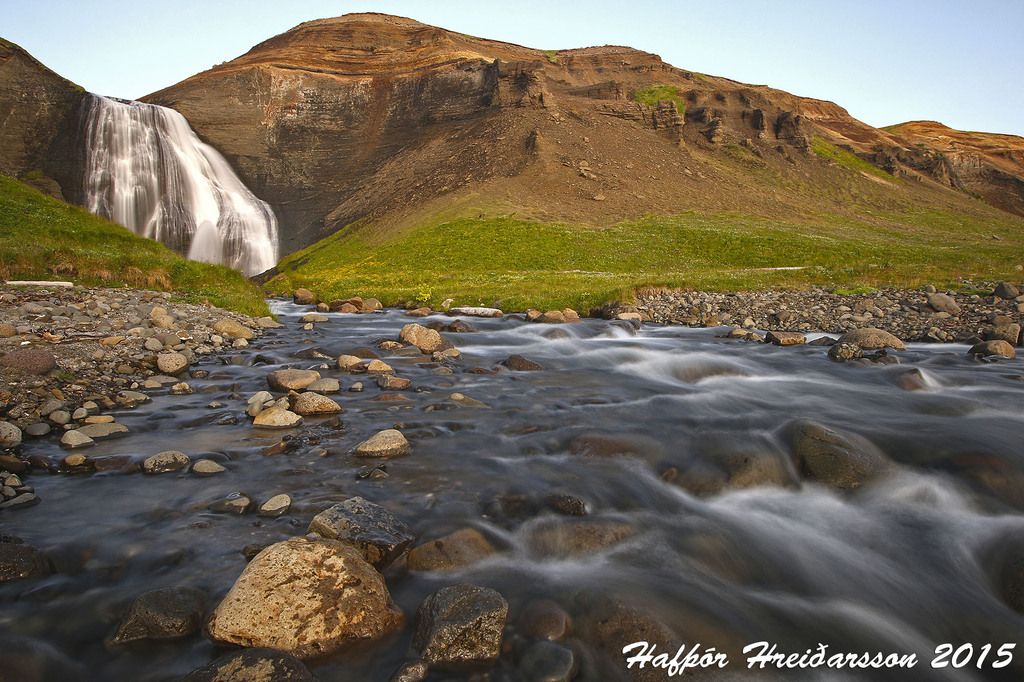 Skeifárfoss waterfall near Húsavík.