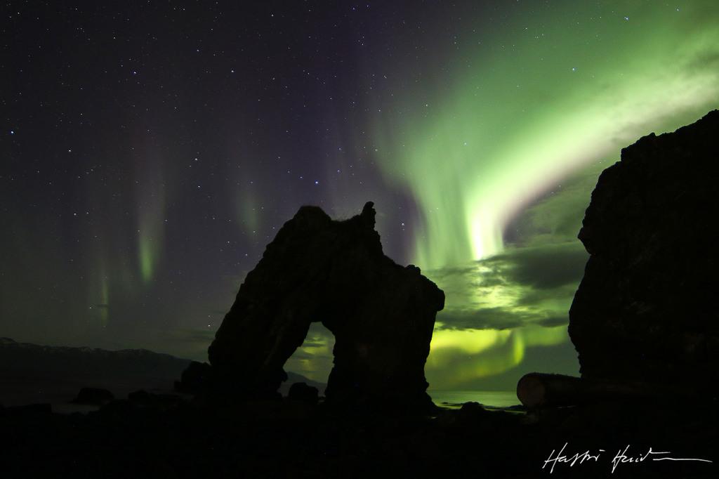 Gatanöf near Húsavík. (5.min)  and Aurora borealis