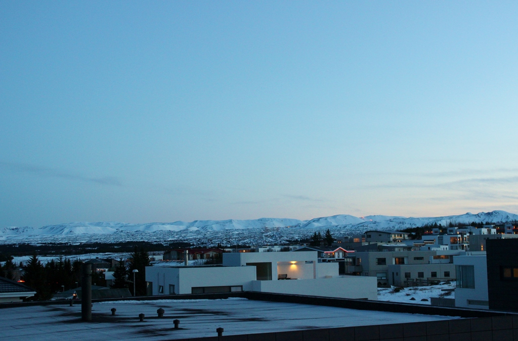 "The view from our balcony, Mountain ""Bláfjöll"""