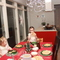 The children, Edda, Anna and Kolbjorn, in the Kitchen/Dining room area