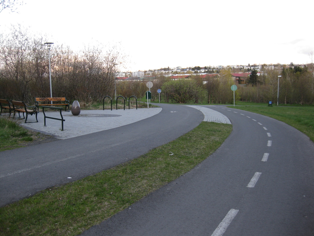 The walking/biking path 150m from our house