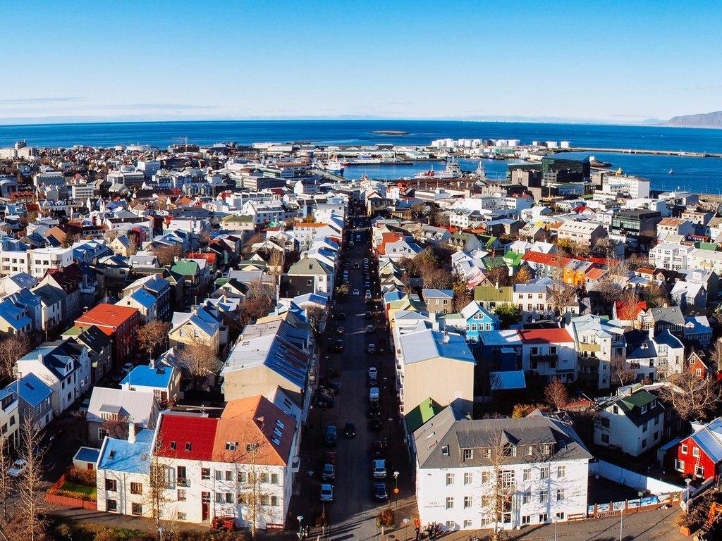 Reykjavík, Colorful roofs.