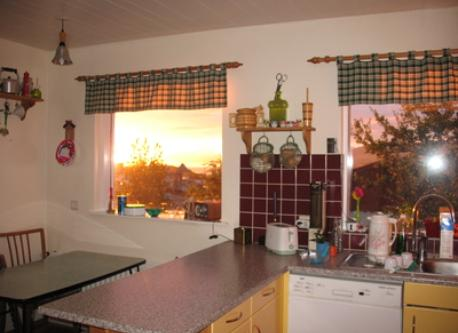 Kitchen with amazing view