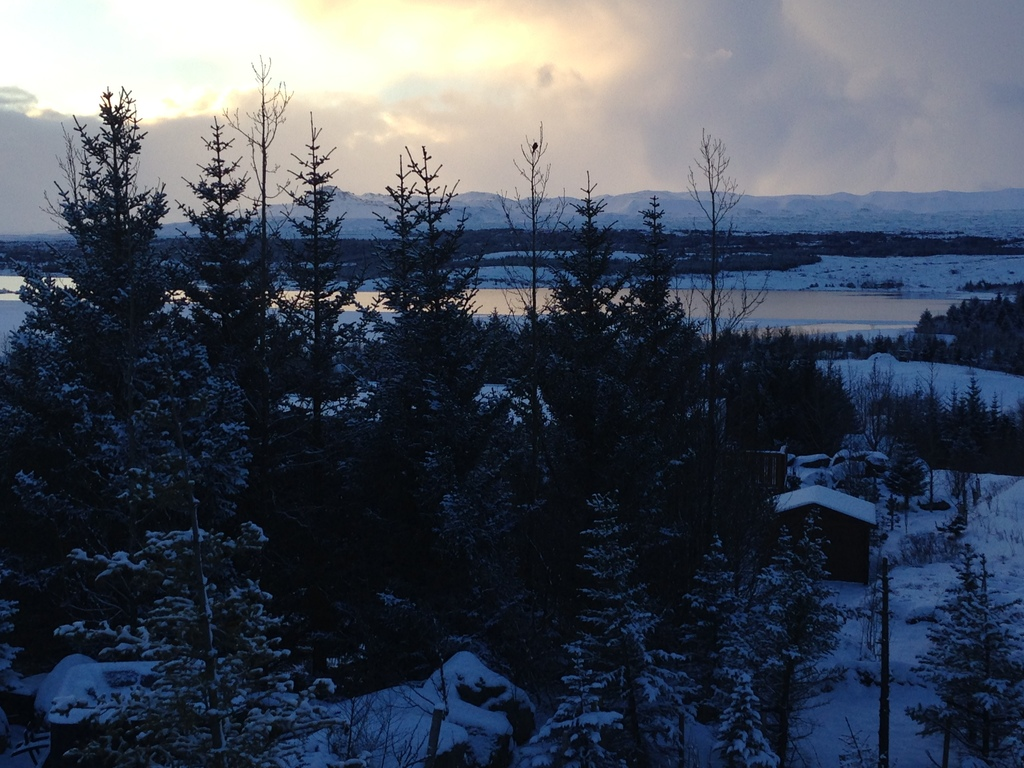 Winter view from our house