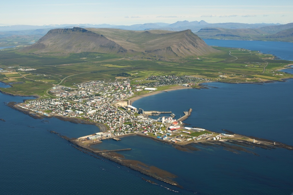 Akranes seen from above