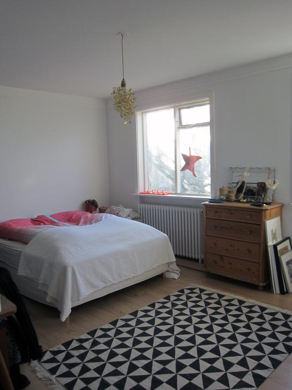 Master bedroom with balconies