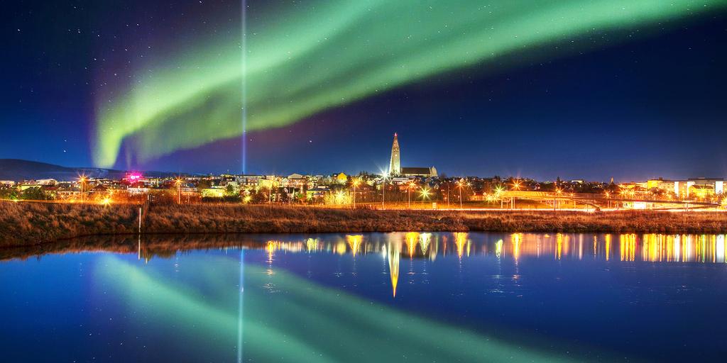 Reykjavik center, winter photo