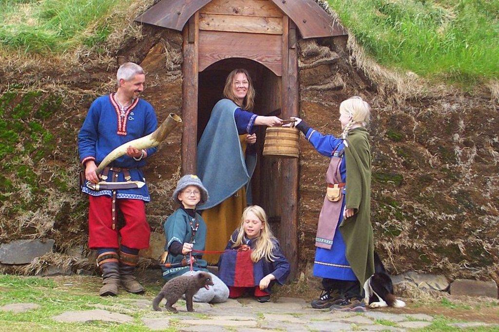 """Eiríksstaðir, the replica house of the farm of """"Eric the red"""""""