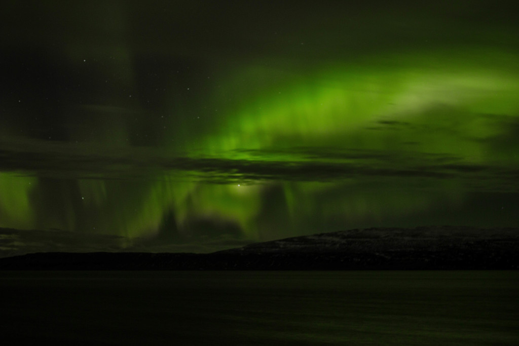 The northern lights, picture taken from my back yard by my host daughter.