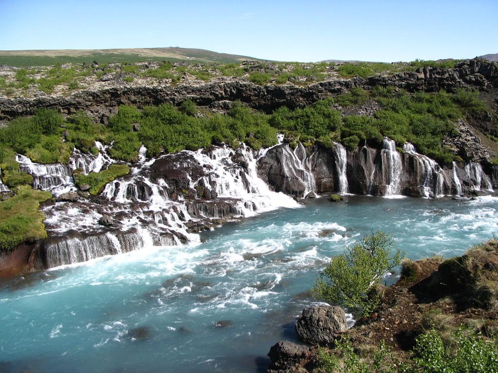 Hraunfossar in Borgarfjörður region.