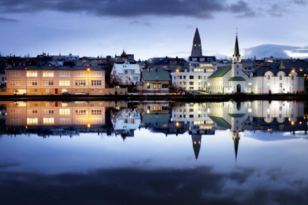 Tjörnin The Reykjavik pound down town