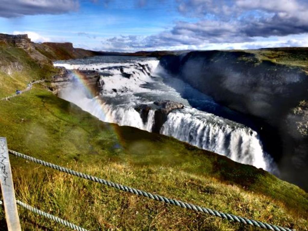 Gullfoss waterfall. 90 minutes drive from Reykjavik
