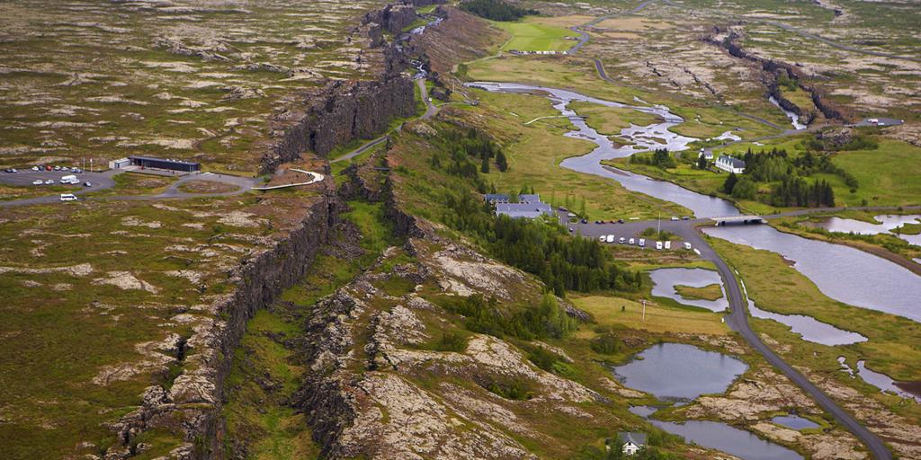 Thingvellir National Park. One hour drive from Reykjavik