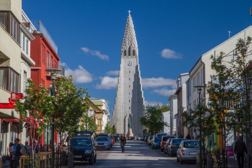 Hallgrímskirkja the biggest church in Iceland. The view from the tower is spectacular.