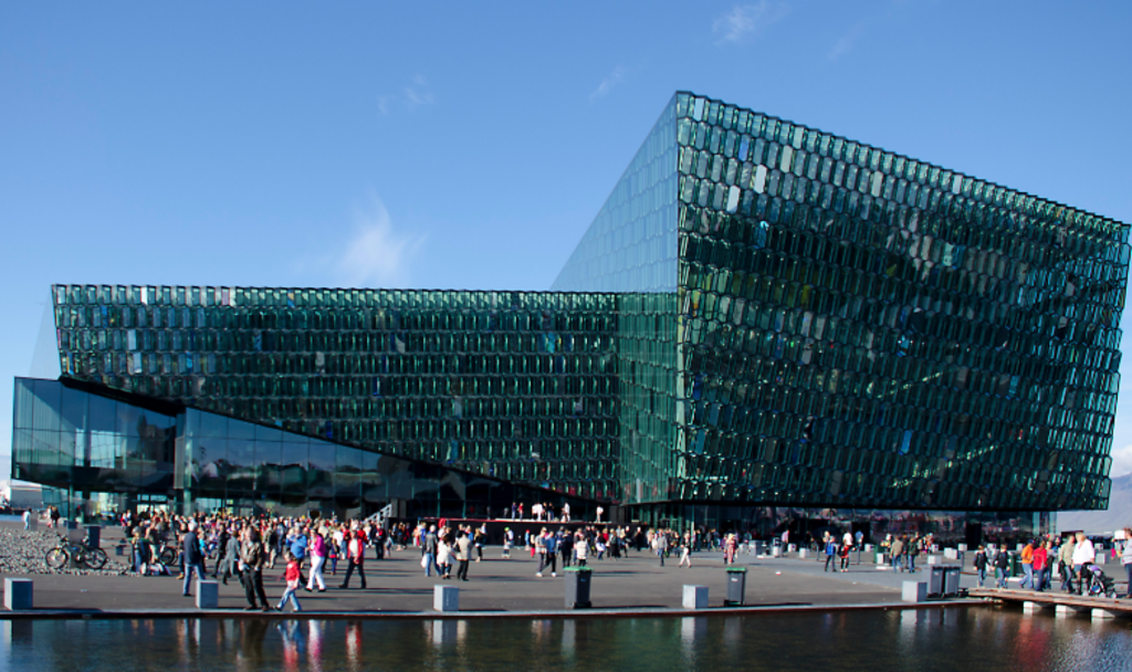 Harpa concert hall down by the harbour. Everything from classical music to roaring rock festivals.
