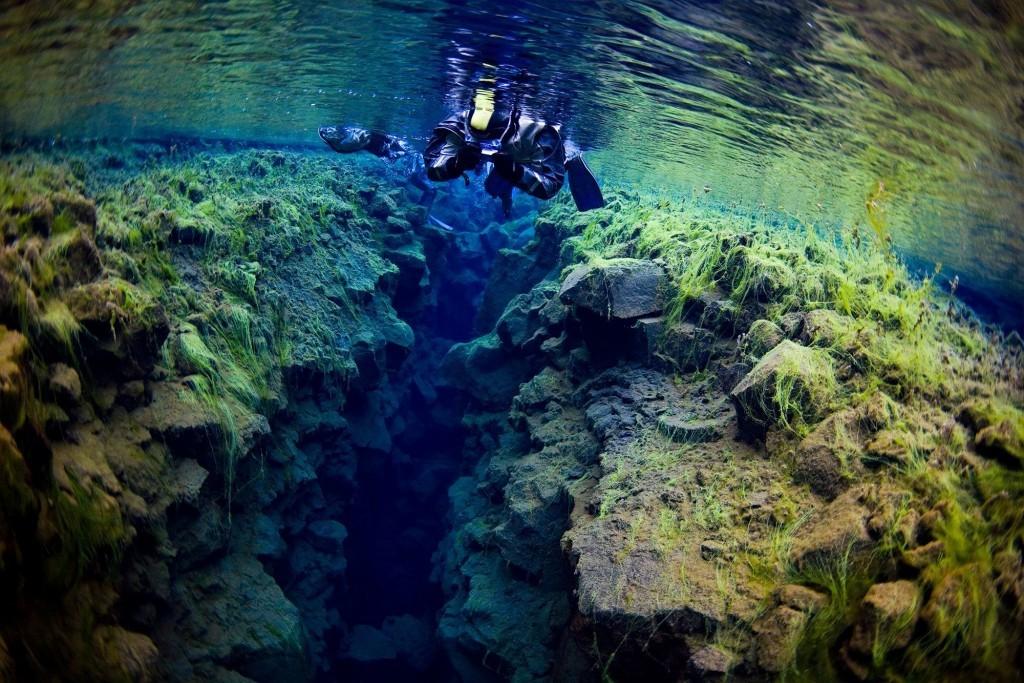 Silfra at Thingvellir is popular diving spot.