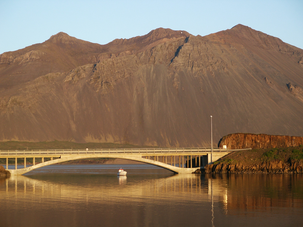 Hafnarfjall is our home mountain. It is popular for hikeing.