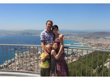 The family on Intervac vacation in Spain 2011