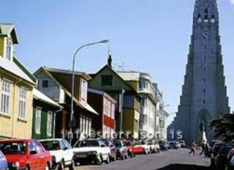 Reykjavík - close to our street.