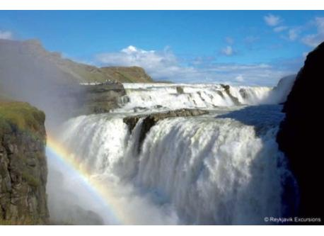 Gullfoss waterfall - One hour away