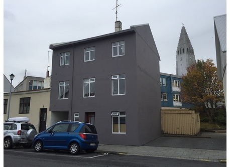 Exterior, with Hallgrímskirkja Cathedral in the background