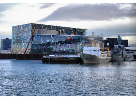 The harbour with Harpa in the background