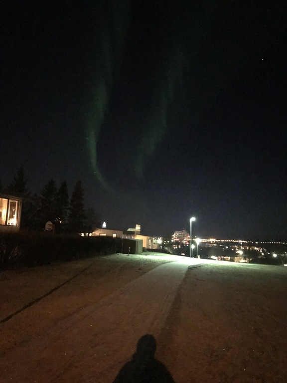 The northern lights - seen from our street.
