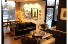 LIving room / fire place.