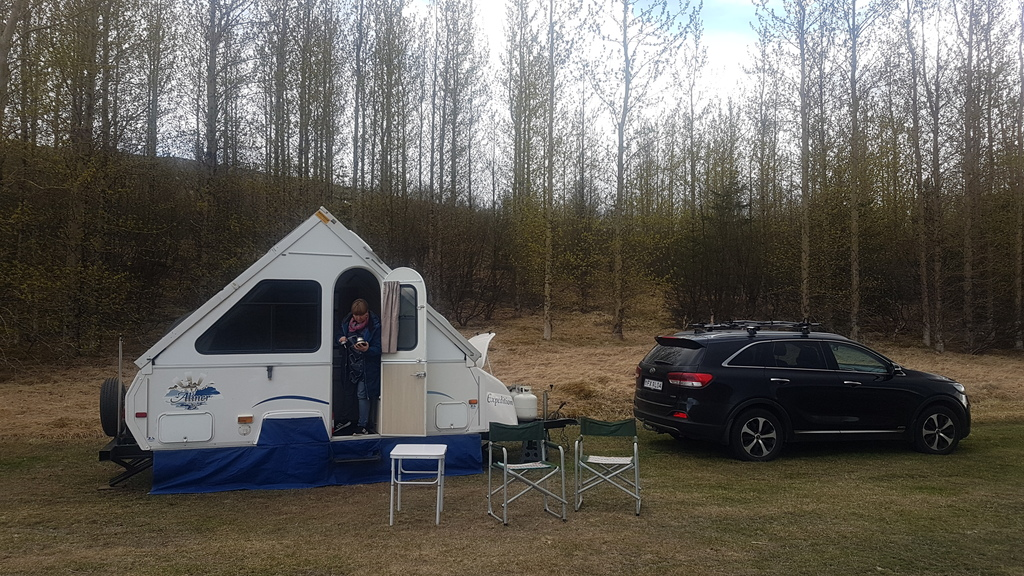 Our Aliner camper out in the wild.