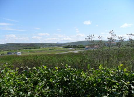 Here is the view from the back of the garden. The golf course is just 500 meters away and many nice walking paths