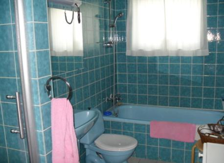 We have two bathrooms and this is the bigger one with shower and batn