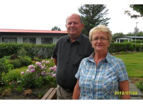 Guðlaugur and Guðrún at home