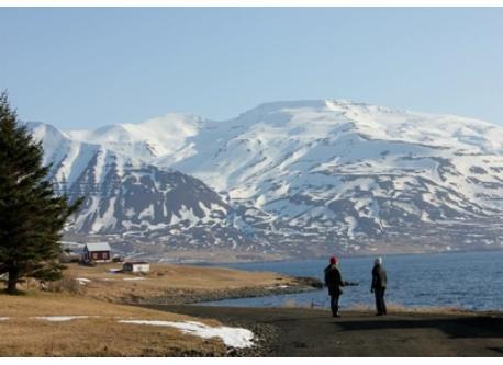 At the island Hrísey in Eyjafjörður, March 2012