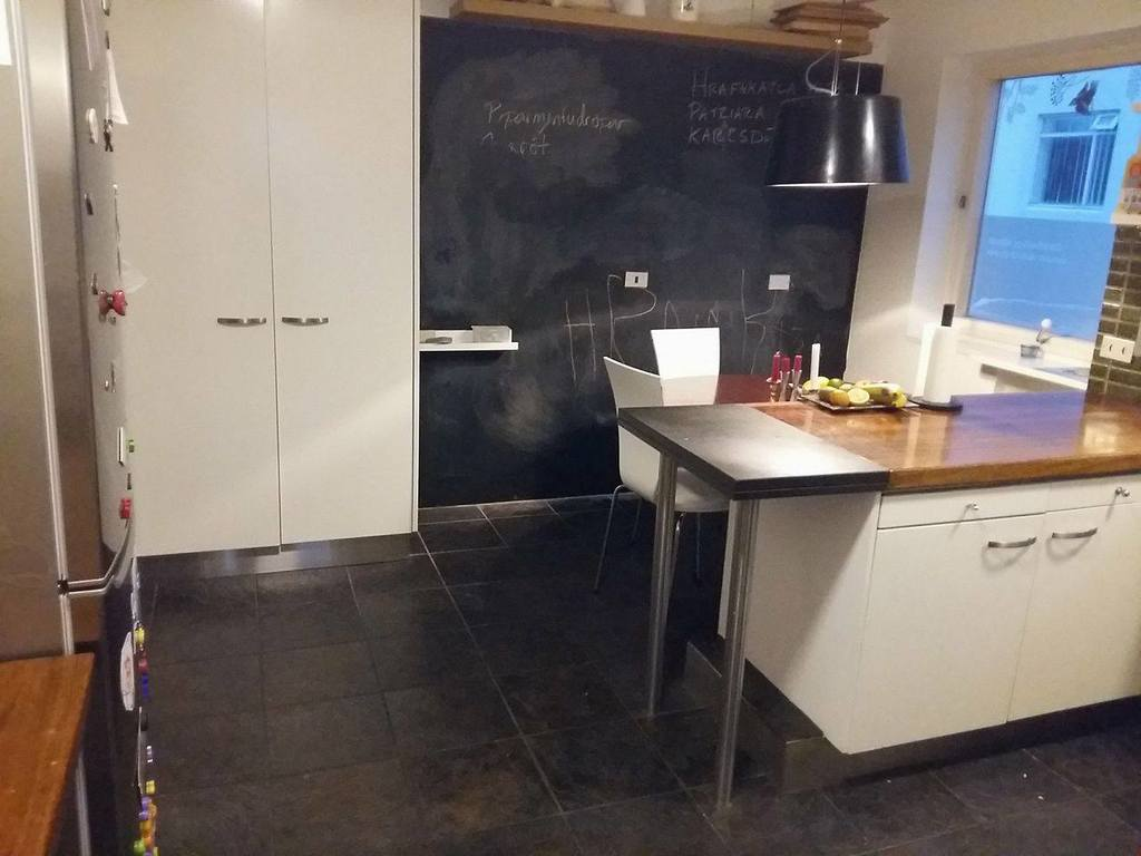 The kitchen - blackboard for kids and checklists