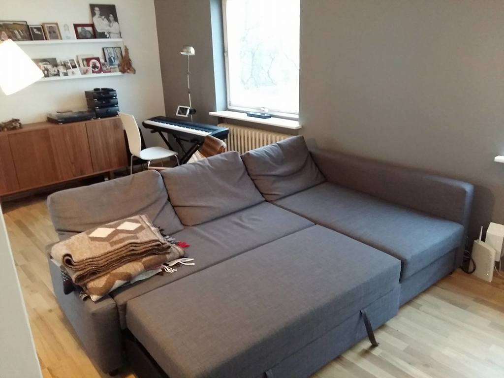 Here is the sofa bed - sleeps two