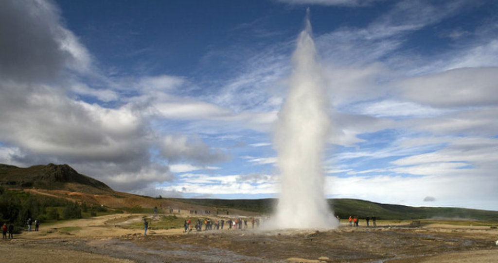 "Geysir area (part of the ""golden circle"")"