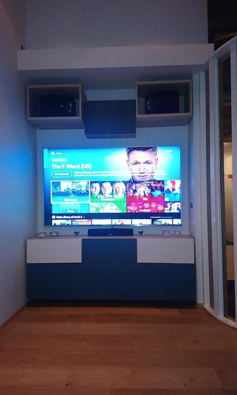 Media center TV lounge