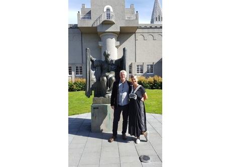 Here we are at our next door sculpture garden