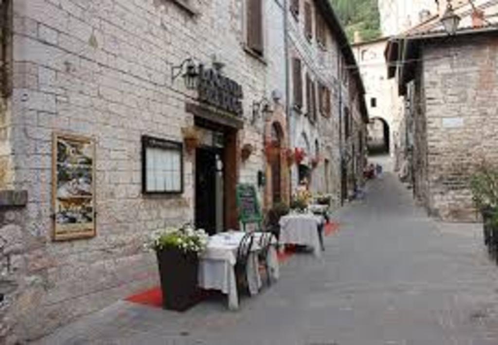 Gubbio typical restaurant