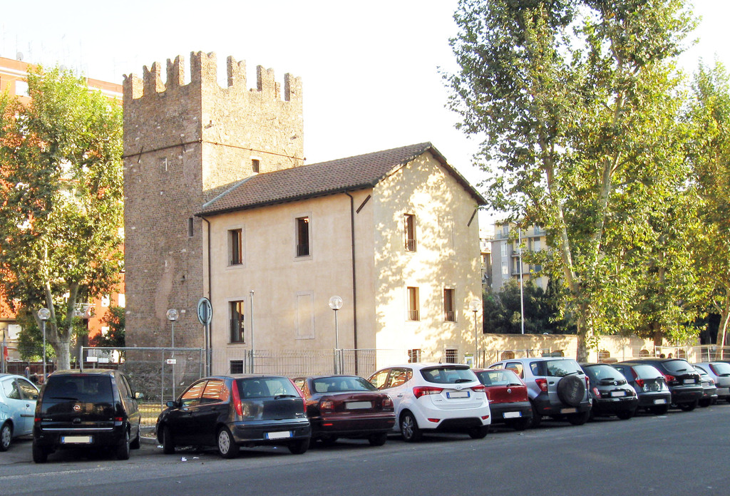 Near the house: medieval tower