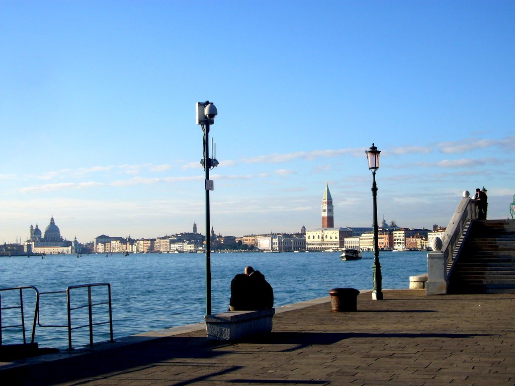 "View from waterbus pier ""Giardini"""