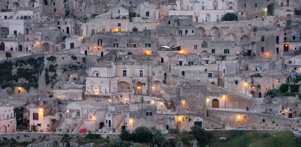 Matera, UNESCO site, houses in the caves, 1 hr drive.