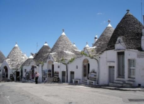 Trulli stone houses in Alberobello, UNESCO site