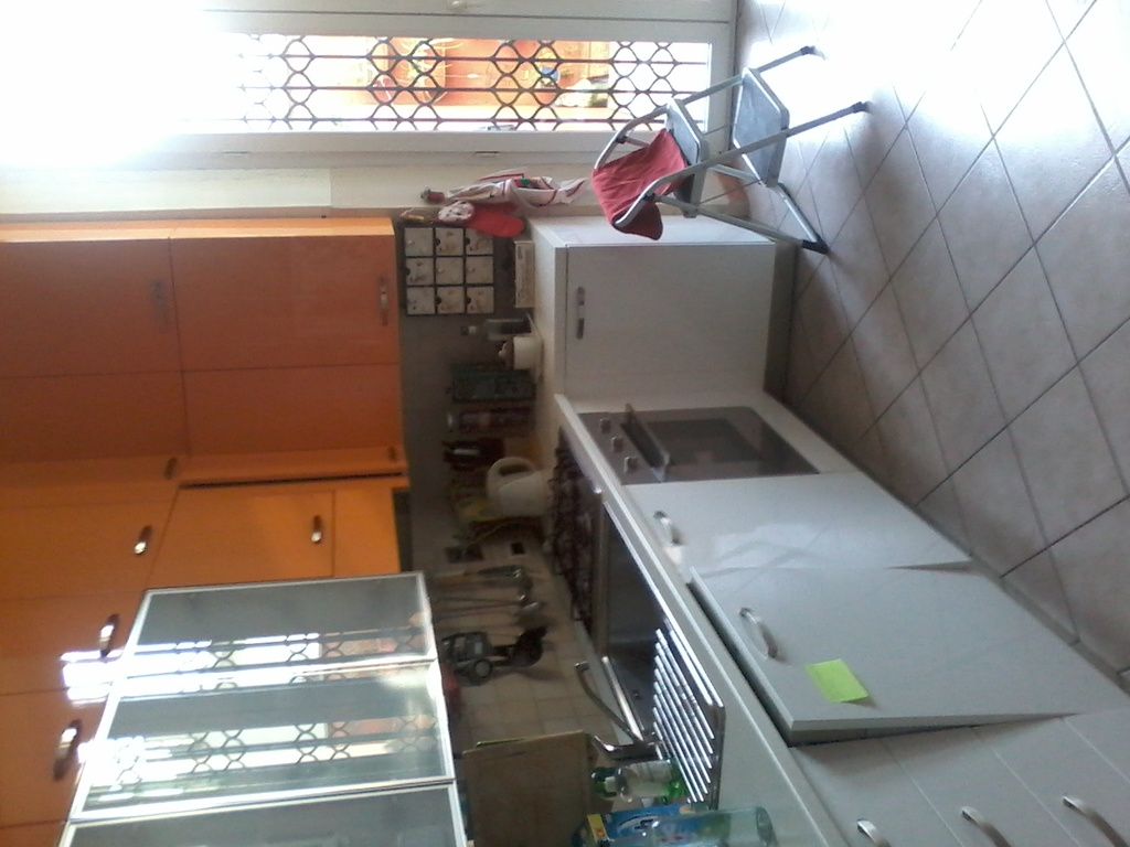 The kitchen with access to the garden